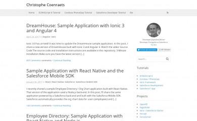 coenraets.org screenshot