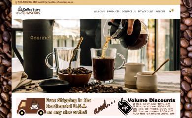 coffeestoreroasters.com screenshot