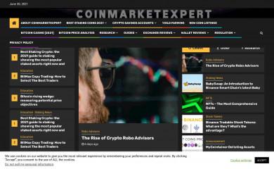 coinmarketexpert.com screenshot