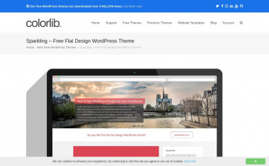 http://colorlib.com/wp/themes/sparkling screenshot