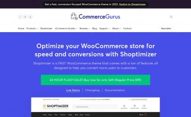 https://www.commercegurus.com/wordpress-themes/shoptimizer screenshot