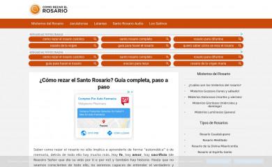 comorezarelrosario.com screenshot