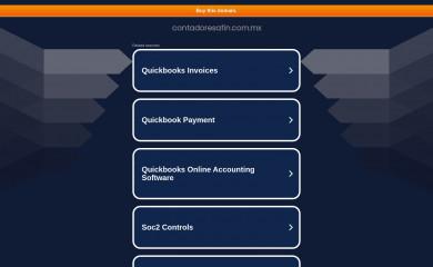 http://contadoresafin.com.mx screenshot