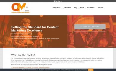 contentmarketingawards.com screenshot