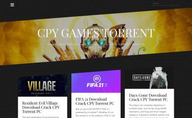 cpygamestorrent.com screenshot