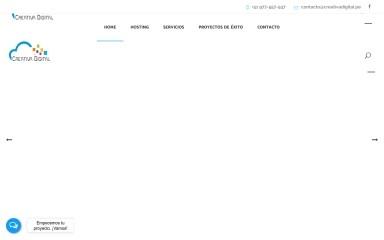creativadigital.pe screenshot