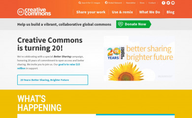 http://creativecommons.org screenshot