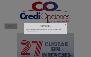 crediopciones.com screenshot