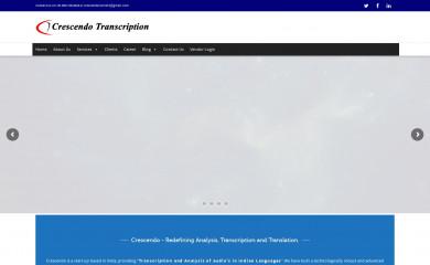 crescendotranscriptions.com screenshot