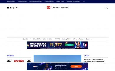 http://cricketaddictor.com screenshot