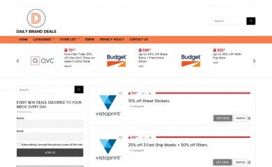 dailybranddeals.com screenshot