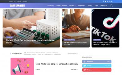 dailysandesh.com screenshot
