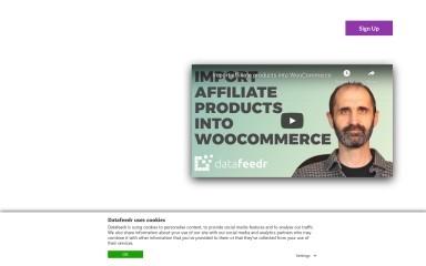 datafeedr.com screenshot