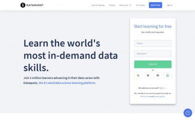 dataquest.io screenshot