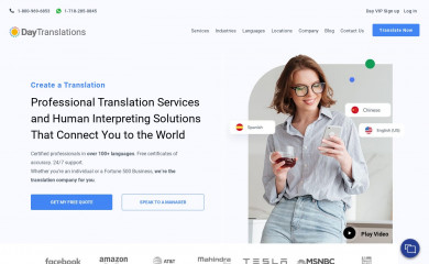 daytranslations.com screenshot