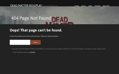 deadmatterroleplay.com screenshot