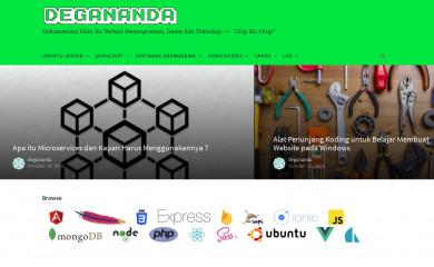 http://degananda.com screenshot