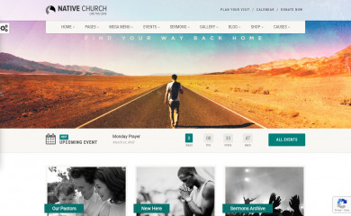https://demo.imithemes.com/native-church-wp/ screenshot