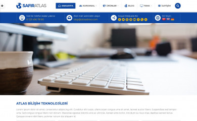 Safir Atlas Wordpress Teması screenshot