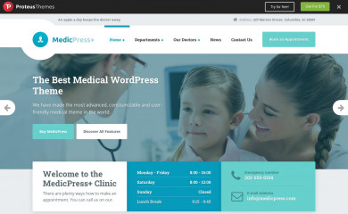 https://demo.proteusthemes.com/medicpress/ screenshot