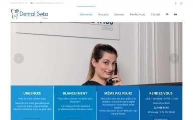 http://dentalswiss-clinics.ch screenshot