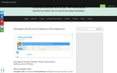 descriptivewords.org screenshot
