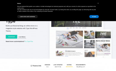 https://www.designlabthemes.com/type-wordpress-theme/ screenshot