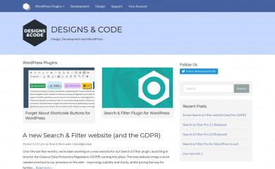 designsandcode.com screenshot