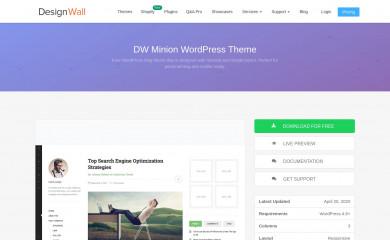 http://www.designwall.com/wordpress/themes/dw-minion/ screenshot