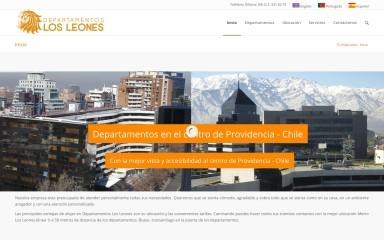 departamentoslosleones.cl screenshot