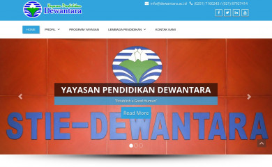 dewantara.ac.id screenshot