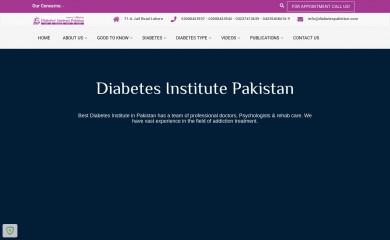 diabetespakistan.com screenshot