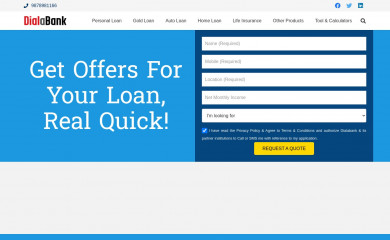 dialabank.com screenshot
