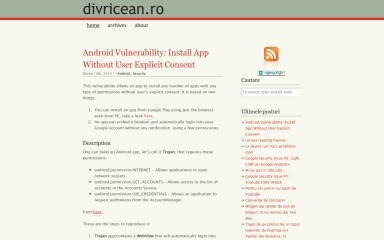 divricean.ro screenshot