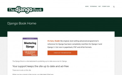 http://djangobook.com screenshot