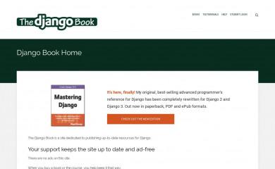 djangobook.com screenshot
