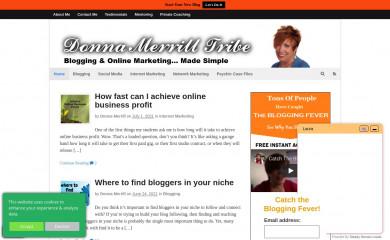 donnamerrilltribe.com screenshot