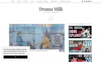dramamilk.com screenshot