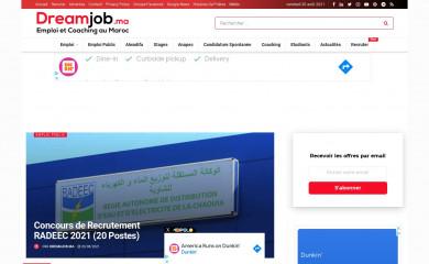 dreamjob.ma screenshot