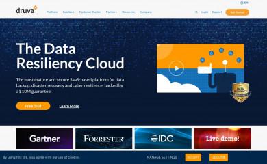 druva.com screenshot