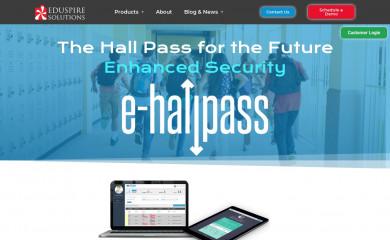 e-hallpass.com screenshot