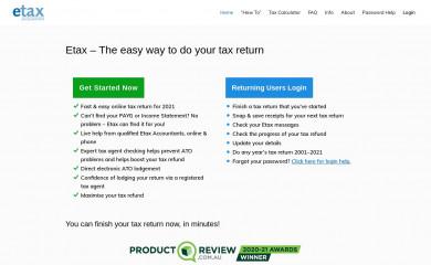 http://etax.com.au screenshot