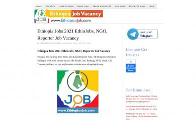 ethiopianjob.com screenshot