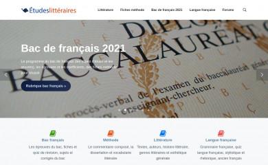 etudes-litteraires.com screenshot