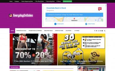everydayonsales.com screenshot