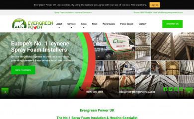evergreenpoweruk.com screenshot
