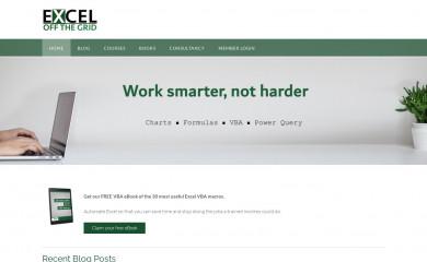 exceloffthegrid.com screenshot