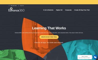 http://edvance360.com screenshot