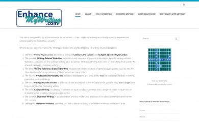 enhancemywriting.com screenshot
