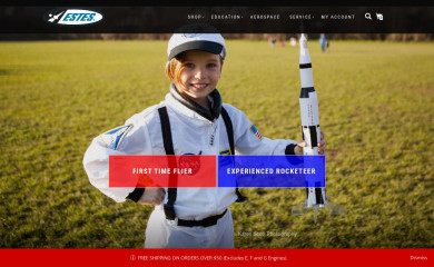 estesrockets.com screenshot